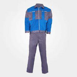 لباس کار سیلوری خاکستری آبی