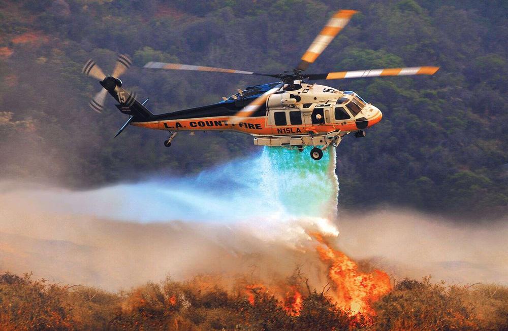 عملیات آتش نشانی هوایی با هلی کوپتر