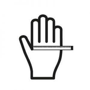راهنمای سایز دستکش سیز XF